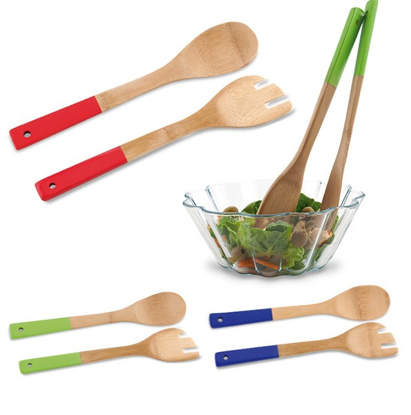 Ho 258 set de utensilios para cocina bamb promoimport - Utensilios de cocina ecologicos ...
